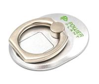 Держатель для смартфонов PowerPlant с кольцом, серебристый (CA910304)