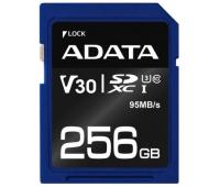Карта памяти ADATA 256GB SDXC class 10 UHS-I U3 V30 (ASDX256GUI3V30S-R)