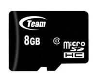Карта памяти Team 8GB microSDHC Class10 (TUSDH8GCL1002)