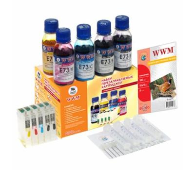 Комплект перезаправляемых картриджей WWM Epson C110/Office T30/TX510FN (RC.T073H)