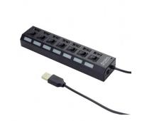Концентратор 7 port USB 2.0 GEMBIRD (UHB-U2P7-03)