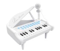 Музыкальная игрушка Baoli пианино - синтезатор Маленький музикант с микрофоном, белый (BAO-1505B-W)