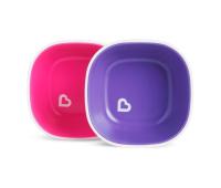Набор детской посуды Munchkin Splash Bowls тарелок 2 шт Розовая и фиолетовая (46725.02)