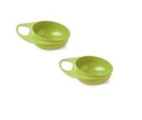 Набор детской посуды Nuvita Тарелка Easy Eating глубокая 2 шт. салатовая (NV8431Lime)