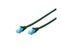 Патч-корд 5м, UTP, cat.5e, AWG 26/7, CCA, PVC, green DIGITUS (DK-1512-050/G)