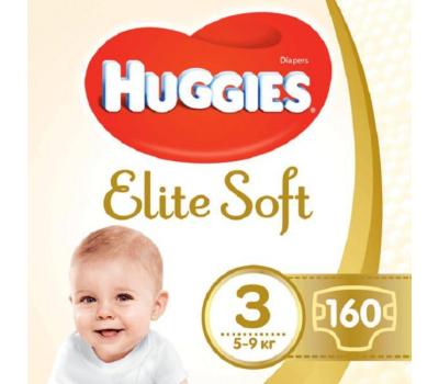 Подгузник Huggies Elite Soft 3 (5-9 кг) 160 шт (5029054566213)