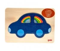 Развивающая игрушка Goki Разноцветные машинки (57485)