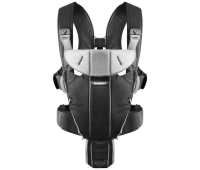 Рюкзак-переноска Baby Bjorn Baby Carrier Miracle Cotton Mix Black/Silver (96065)