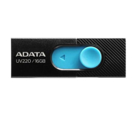 USB флеш накопитель ADATA 16GB UV220 Black/Blue USB 2.0 (AUV220-16G-RBKBL)