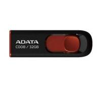 USB флеш накопитель ADATA 32Gb C008 black+red (AC008-32G-RKD)