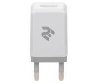Зарядное устройство 2E USB Wall Charger USB:DC5V/1A, white (2E-WC1USB1A-W)